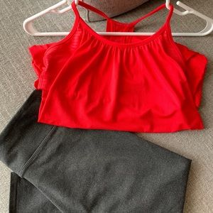 BUNDLE Lululemon No Limits Tank + Fabletics Crop